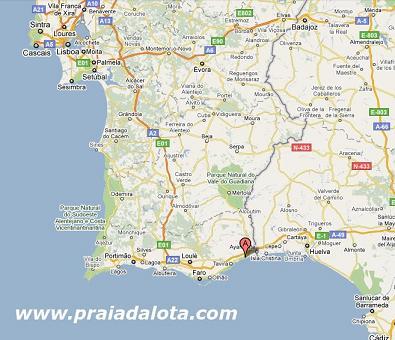 mapa manta rota portugal Localizacao/Localización mapa manta rota portugal